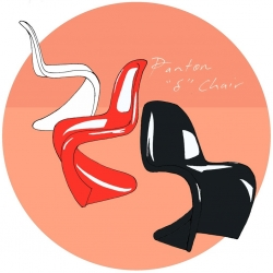 Panton S Chair for Apartment Therapy