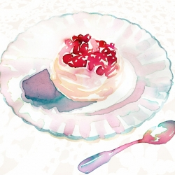 meringue-with-a-layer-of-rose-flavoured-cream-topped-with-pomegranate-jewels