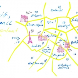 Paris Map for Afternoon Tea (JP)