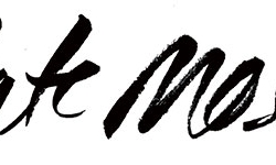 Kate Moss lettering for MilkX Magazine (HK)