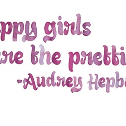 Audrey Hepburn quote for Glamour Magazine