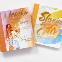 A Mother is a Story and Stories For My Child book covers