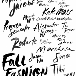 Lettering samples from NYFW